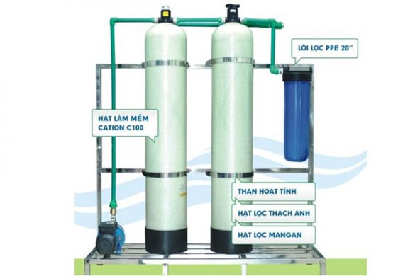 hệ thống máy lọc nước giếng khoan